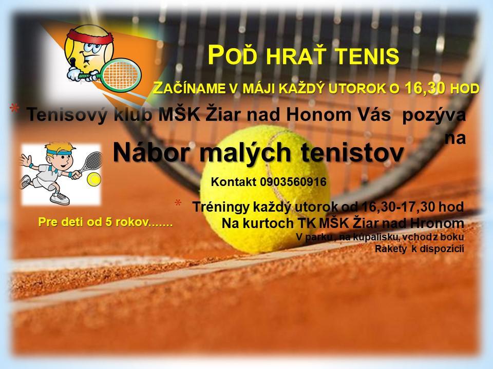 Nábor malých tenistov
